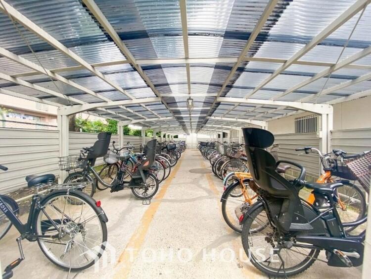 屋根付きの自転車置き場もあり安心です。