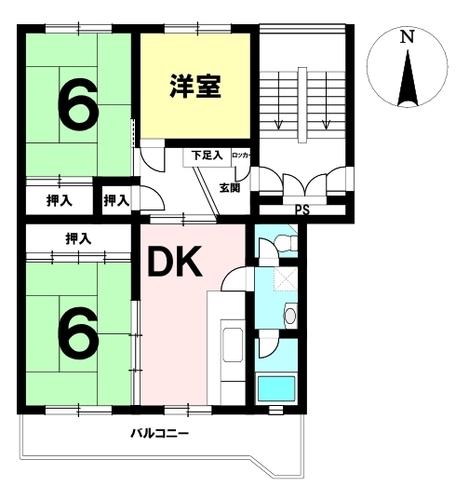 小幡ダイヤハイツ B棟の物件画像