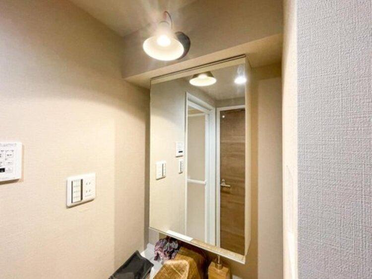◇シャンプードレッサー付洗面化粧台◇浴室にいかなくても、洗髪ができる機能が嬉しいですね。照明もインテリア性の高いデザイン。