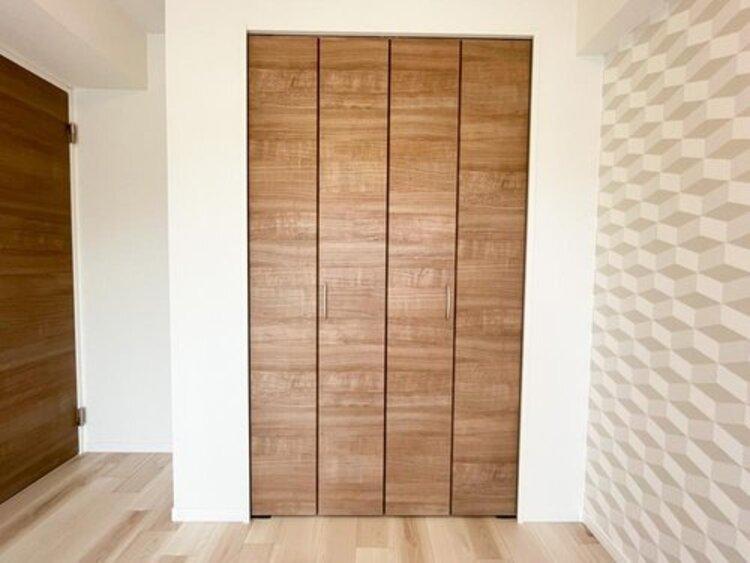 ◇居室収納◇全居室に収納が備え付けの為、お部屋の中をすっきりとお使いいただけます。