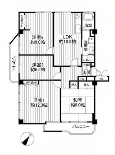 八千代台ハイツ 花見川区天戸町の画像