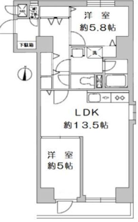 ◇2LDK◇専有面積 56.52m2◇バルコニー面積 4.89m2