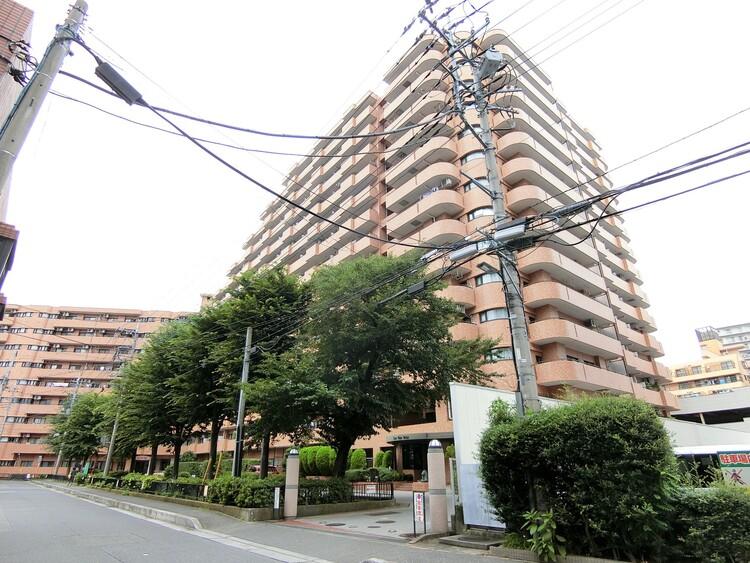 存在感のある外観。全187戸のマンションです。