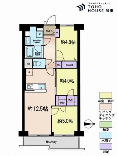 南篠崎スカイハイツA棟(8F)の物件画像
