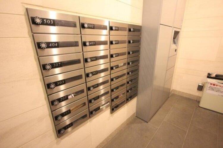 郵便物を受け取るための郵便受けも、きちんと管理されています。