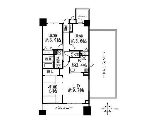 クレッセント武蔵新城*の物件画像