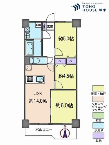西新井大師扇スカイハイツ(10F)の物件画像