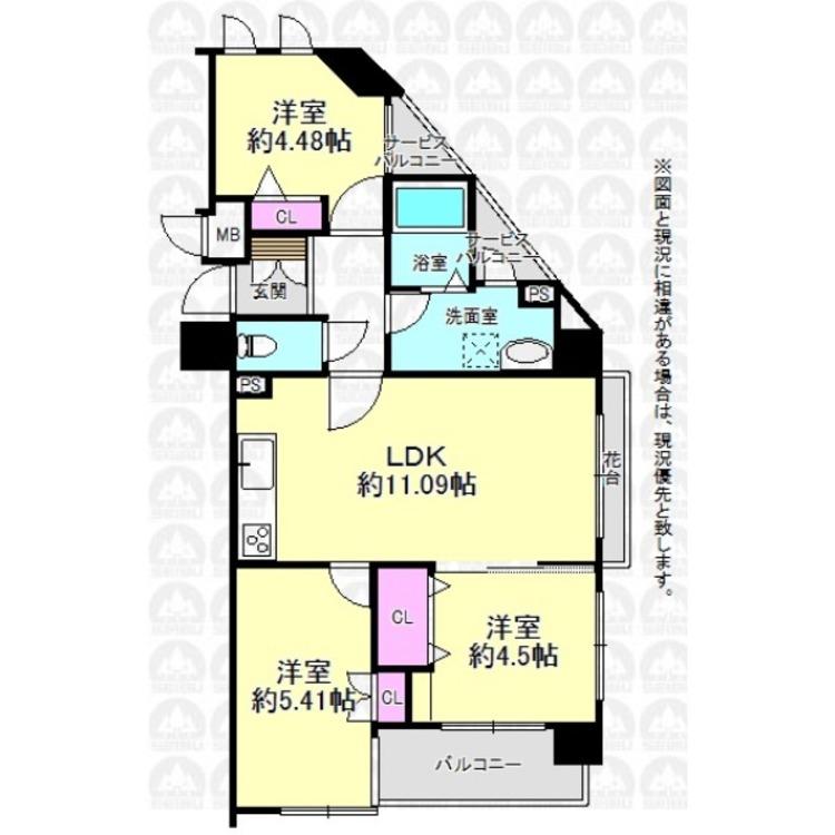 引き戸付洋室の戸を開放すれば、LDKを広々と使うことができます。