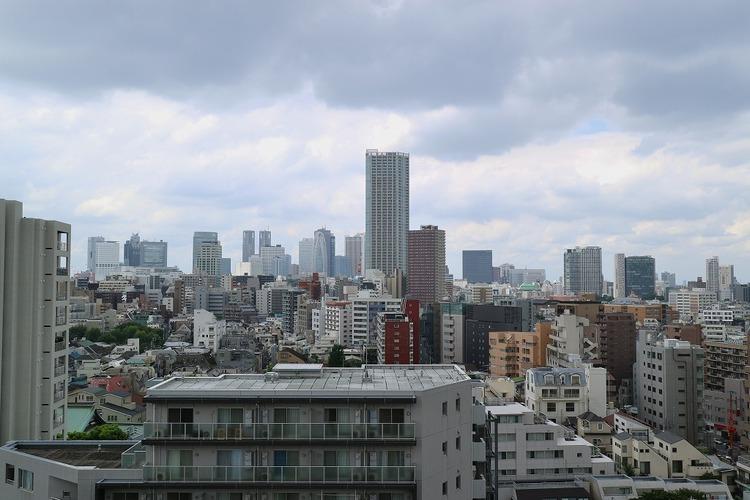 13階からの眺望です。とても開放的ですね。