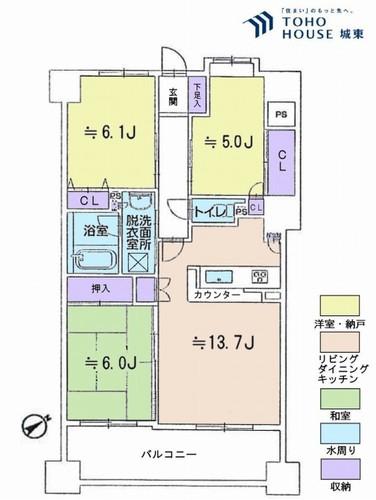 グーディッシュ西新井弐番館(13F)の物件画像