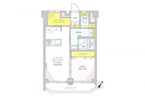 武蔵小山フラワーマンションの物件画像