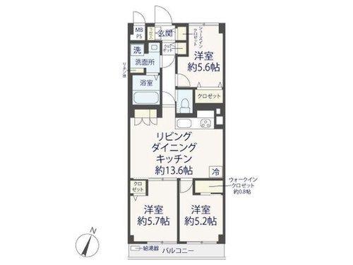 【ハイコーポ用賀】用賀駅より徒歩9分!家具付き♪最上階で叶える開放的な毎日の間取り