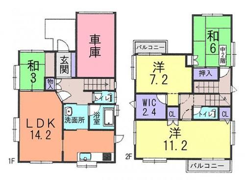 草加市苗塚町 中古住宅の画像