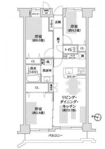 クレアール横浜大口の物件画像