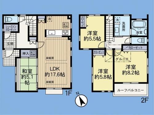 「川和町」駅 歩18分 横浜市都筑区川和町の画像