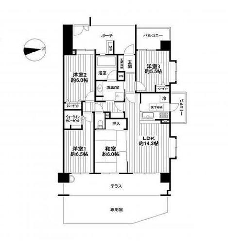 ウィズ勝田台 八千代市上高野 1階の物件画像