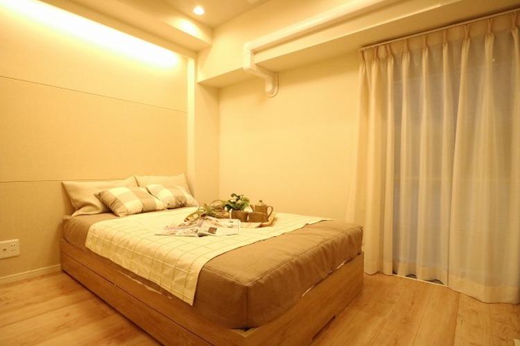 リビングに隣接している洋室は間仕切り可能です。(建具は指定の商品となります。)