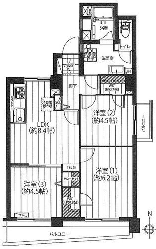 南永田団地1−6号棟の画像