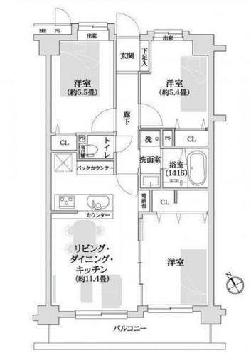 ライオンズマンション日吉西の画像