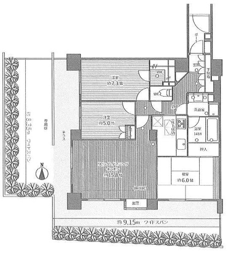 市ケ尾南パークホームズの物件画像