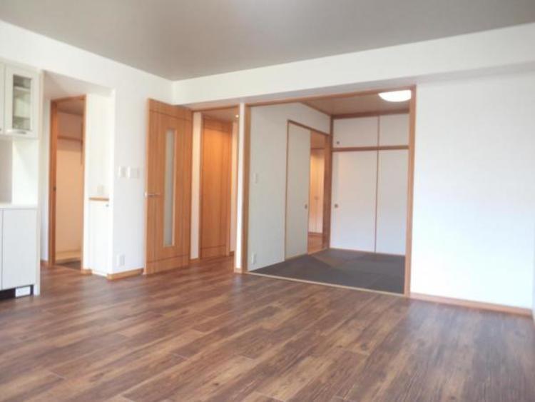 〇和室を開放すると約24帖の大空間になります!