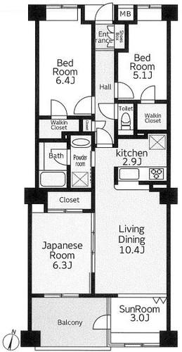 ヴィルヌーブガーデンアトラス東戸塚ヒルトップ棟の物件画像