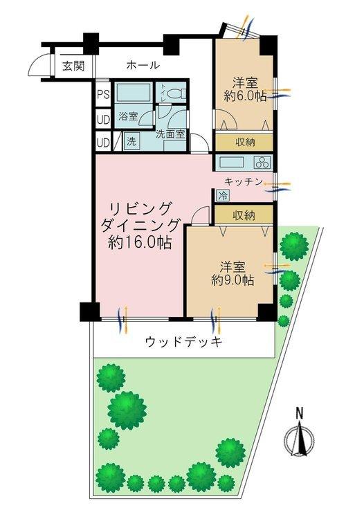 3LDK、価格6480万円、専有面積90.22m2
