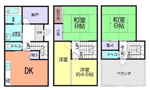 草加市谷塚町 中古住宅の物件画像