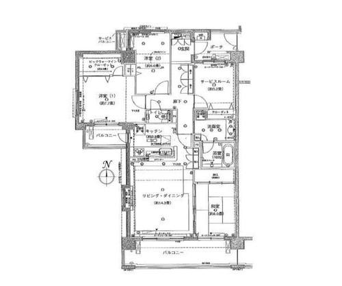 クレストフォルム日吉レインボーズヒルサウスコート棟の物件画像