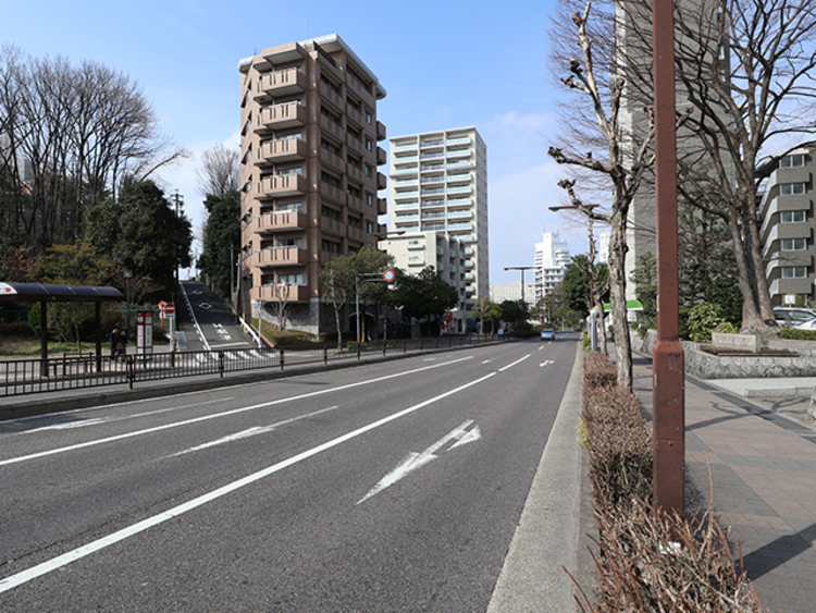 マンションの前面道路