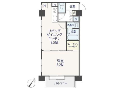 『柿の木坂東豊エステート』 東南角住居の明るいお部屋~renovation~の間取り