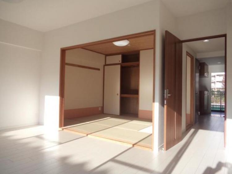 和室を開放すると約16帖のひろ〜い空間になります!