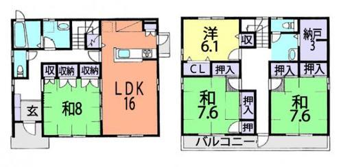 草加市谷塚仲町 中古住宅の画像