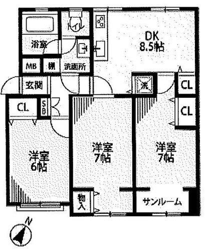 長津田団地14号棟の画像