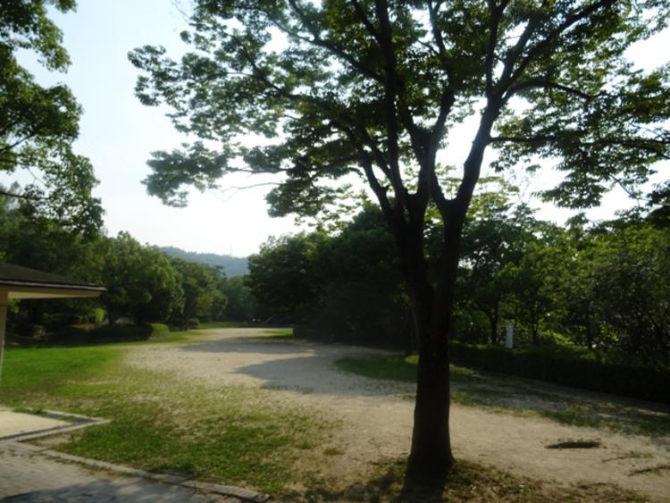 北ひばりが丘公園。かなり大規模な公園が徒歩30秒の位置にあるのは魅力です。