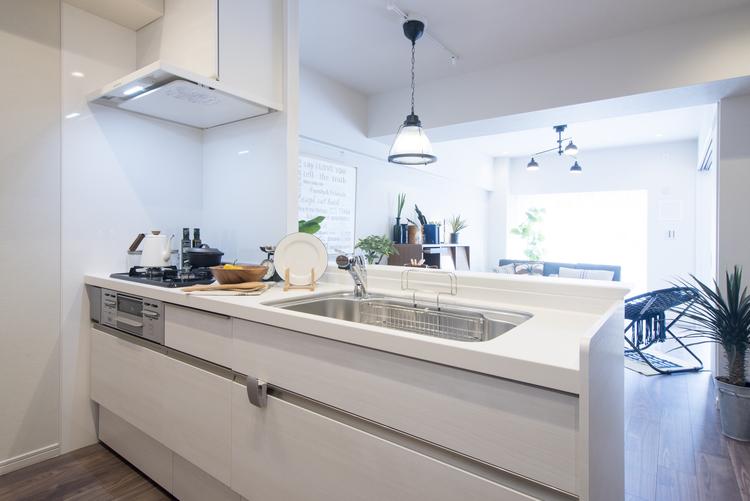 人気のカウンターキッチンとしてLIXL製システムキッチンを設置