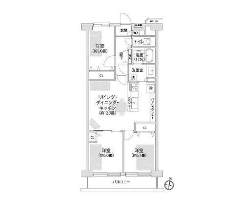 日商岩井溝の口マンションA棟の画像