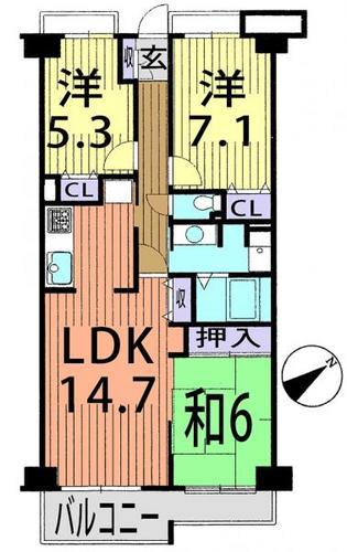 コスモ津田沼グレイスシティA棟の物件画像