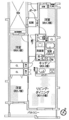 フォンテーヌブロー青葉台B棟の物件画像
