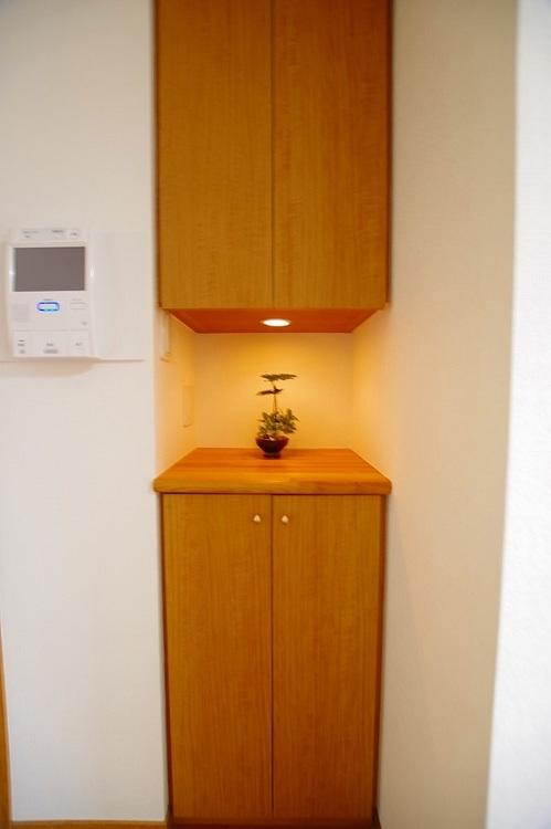 飾り棚スペースで空間を演出できます