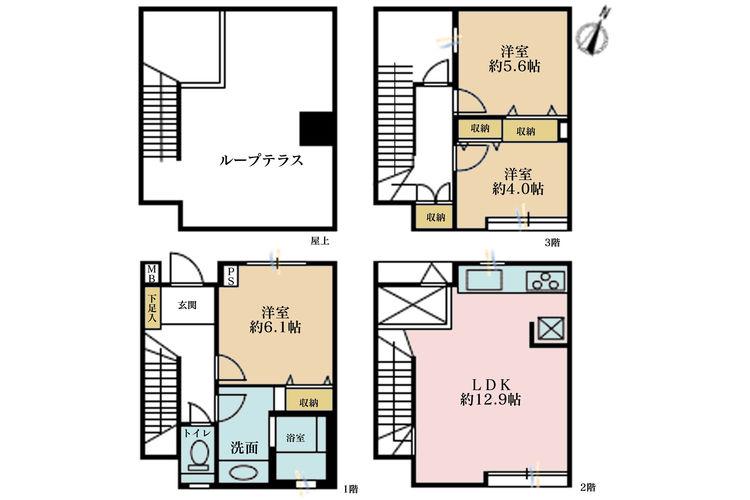3DK、価格5890万円、専有面積82.53m2