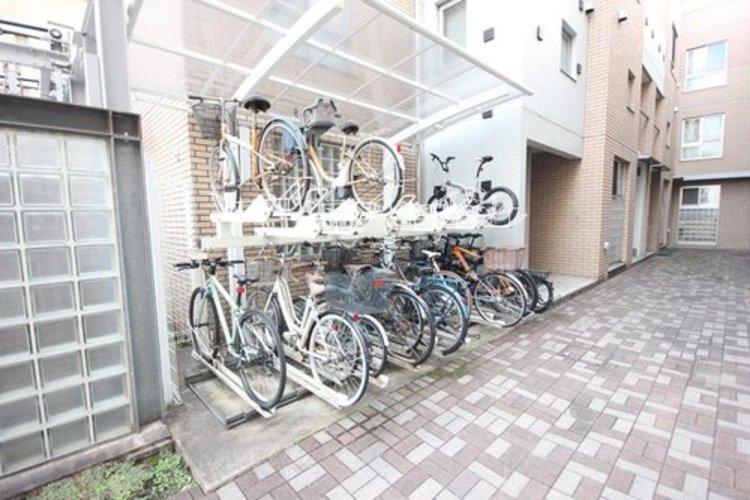 もちろん駐輪場もございます。