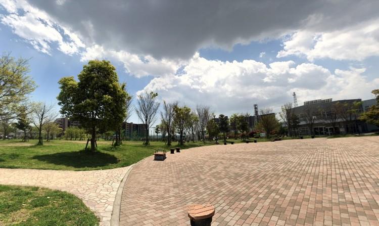 防災施設としても利用できる緑溢れる公園