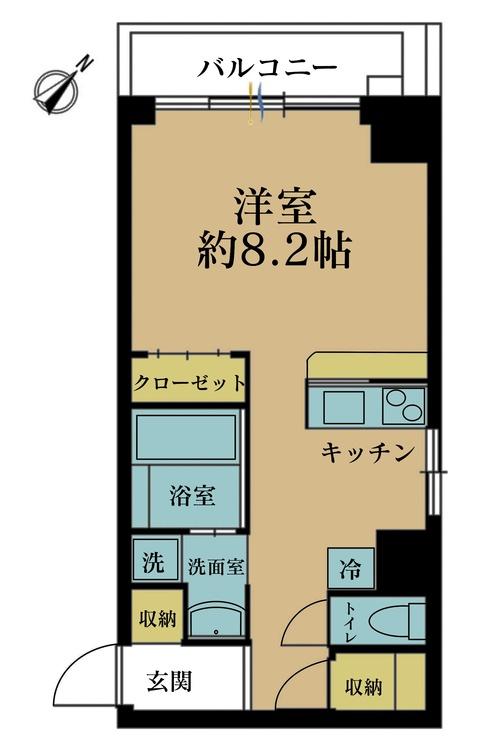 価格2480万円、専有面積33.87m2、バルコニー面積4m2