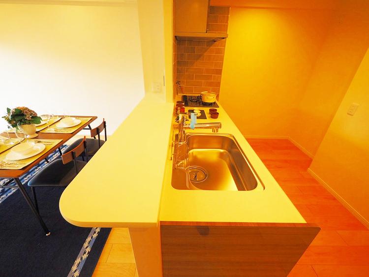 クリナップ製 食洗器・浄水器内蔵水栓システムキッチン