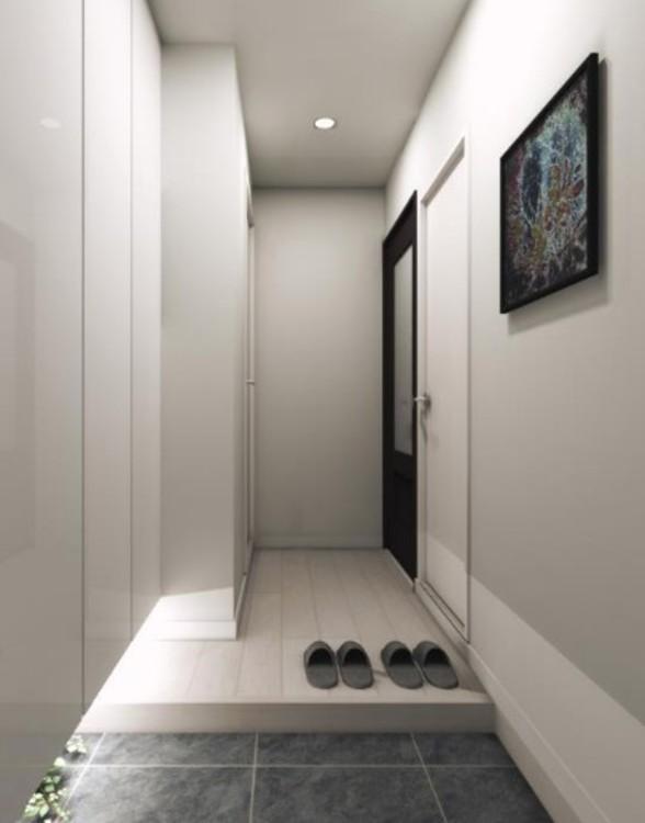 収納力のあるトールタイプの下足入を設置。すっきりと清潔感のある玄関を保てます