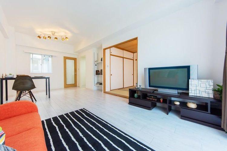 「LDK」約16.1帖 居室に柱が出ない壁式工法でお部屋すっきり