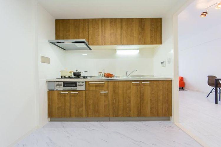 「キッチン」匂いが広がりにくい独立型キッチン