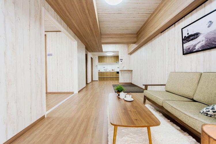 「LDK」約14.7帖 フルリフォームで生まれ変わった室内空間