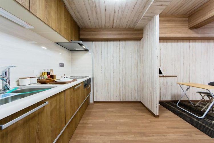 「キッチン」IHクッキングヒーター採用